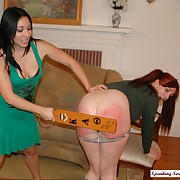 Licentious chick has cruel spanks not susceptible her nates