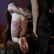 Dominating gal bonks her two stud doxies with perversions.