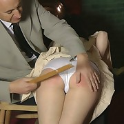The bad submissive maid was paddley by her boss