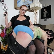 College girl spanked by the dorm mother