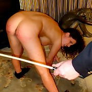 Caning of horny slut