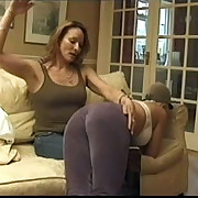 Blonde floozy hard spanked