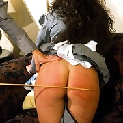 2 pretty maids severely caned and paddled on their bared buttocks