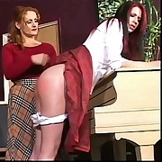 Two young schoolgirls getting brutally spanked and humiliated