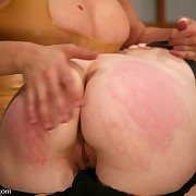 Redhead slave gets whipped with the addition of tormented