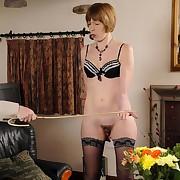 Husband caned milf wife