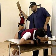 Girls punished in class room