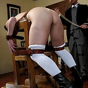 Four bad maids gets caned hard