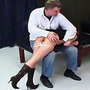 Sara gets a nasty drubbing as torture for dressing like a slut
