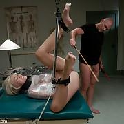 Nurse Sin bound up and fucked