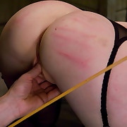 Gorgeous serf cutie is tutored to serve the table and receive fucked