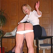 Lady boss punishes slaveboy