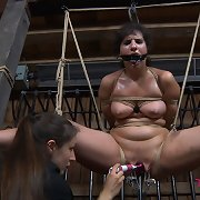 Marina is a hot, willing subjugation slut and so SD feels like she needs to shove her to the edge of her endurance.