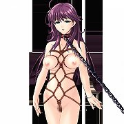 Big-breasted hentai girls are collared and bound.