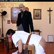 Brutal English caning