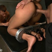 Captured girl undergoes sexual conditioning and drilled in bondage!