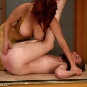 Redhead villein acquires whipped and tormented