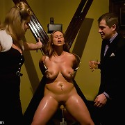 House of Kink slave serves at first dinner party.