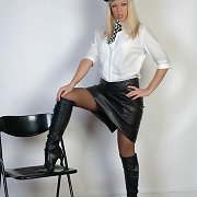 Sexy obsession wife Belle is dressed as a nasty police woman
