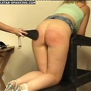 Young and bawdy doxies spanked and paddled on their pert little bottoms