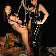 Mistress Mandy playing with her female slave