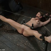 Submissive MILF was gagged, bound