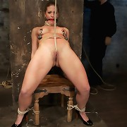 Slave Holly has her pussy destroyed from hell