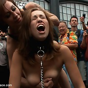 Folsom Street Fair whore humiliated and fucked by strangers.