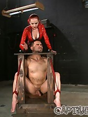 Poor male slave used