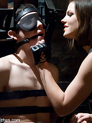 There are perverted sexual games with female domination.