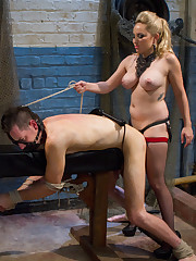 The goddess spanked, fucked and got her pussy worshipped from malesub