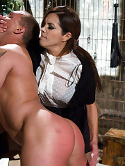 The muscle slaveboy got smothered, fucked, spanked and his cock wanked