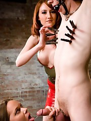 Domina Kendra dominated boy and girl