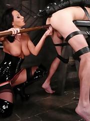 Mistress Sandra Romain fucks slave boy