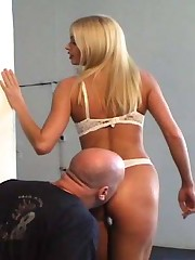 Baldy's met his match in Tall Goddess, who not only facesits him but engages in some oldfashioned HOM smothering