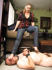 Trampling of submissive husband
