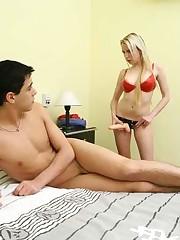 Latina ass licks and anal fucks her man
