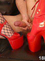 2 sweethearts subjoin up with a guy to surrounding him home & rule him
