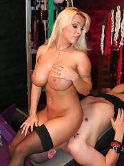 Great blonde mistress