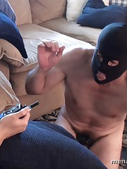 The blonde mistress humiated her slaveboy