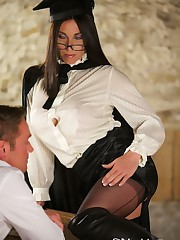School Mistress Hybrid Teaching a Hard Lesson