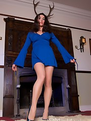 Mistress worn blue dress