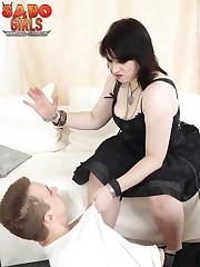 Gothic domina punished slaveboy