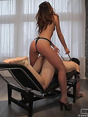 The lady punished and fucked slaveboy