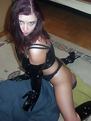 Latex dominatrix facesitter