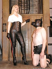 Leather Bitch and slave