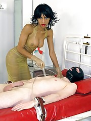 Male rubber maid was tormented