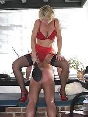 Blonde wife punished husband