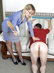 The lady spanked bad lover