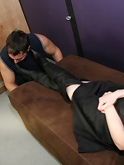 A slaveboy has been humilated off out of one's mind domina`s boots